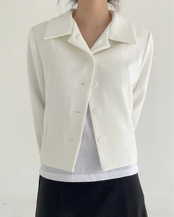 minimal short jacket (2color)