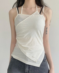 side shirring sleeveless (3color)