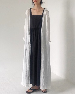 Summer long cardigan, white