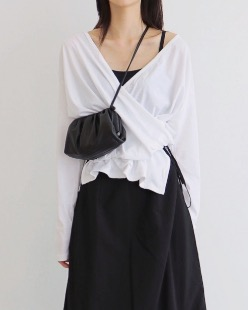 tencel wrap tee (2color)