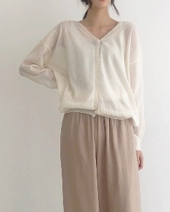 Cardigan, sleeveless set knit (5color)