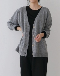 lisa wool cardigan (4color)