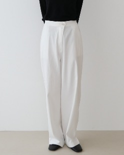 diagonal cotton pants (3color)