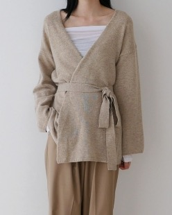 wool robe cardigan (3color)