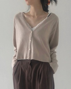 cashmere soft cardigan (2color)